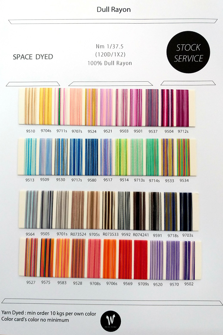 Dull Rayon 120D/1X2 Space Dyed